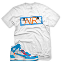 "New ""AIR"" T Shirt for Nike Jordan UNC BLUE OFF WHITE"