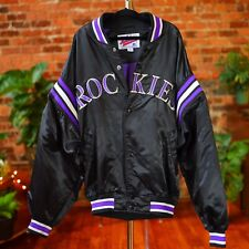 Colorado Rockies Jacket Starter Authentic Diamond Collection Vtg Med Retro MLB