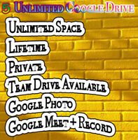 5 Gsuite Google Drive Unlimited Request Username Google meet + recording Secure
