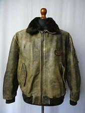 Men's Vintage Leather Bomber Jacket Redskins Type B-32 Chest 42R (M)