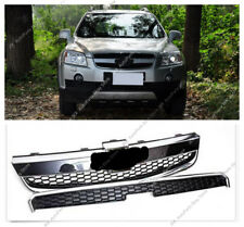 2pcs Front Chrome Bumper Upper+Lower Grille Grill For Chevrolet Captiva 06-11