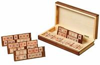PHILOS PREMIUM RUMMY SET WITH WOODEN PIECES WOODEN CASE