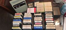 8 track player and tapes