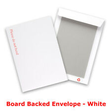 Hard Board Backed Envelopes White For Letters Certificates Photos - C4 Size
