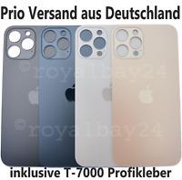 iPhone 12 Pro Max Glas Akkudeckel Backcover Graphit Silber Gold Pazifikblau NEU