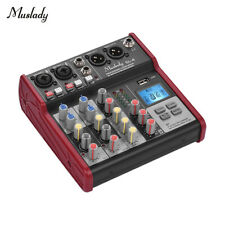 4CH Professional Audio Sound Mixing Console Sound Board Mixer MP3 Player V8K3