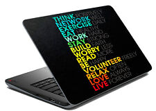 "Motivational Laptop Skin Notebook Sticker Cover Art Decal Fits 14.1"" To 15.6"""