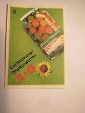 A & O - Gartenmeister Obstkonserven / Streichholzetikett