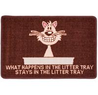 PET REBELLION CAT LITTER MATE MAT / CAT LITTER TRAY TIDY / DOOR MAT / RUG