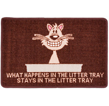 PET REBELLION CAT LITTER MATE MAT / CAT LITTER TRAY TIDY / DOOR MAT / RUG