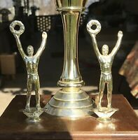 "1978 NIT Holy Cross Kentucky Basketball Game Ball Trophy 8 1/4 X 12 1/2 X 8"""