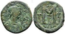 Byzantine Empire. Justinian I AD 527-565. Nikomedia. AE Follis