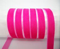 "NEW DIY 5Yards 3/8"" 10mm  velvet ribbon Headband Clips Bow Decoration MN10"