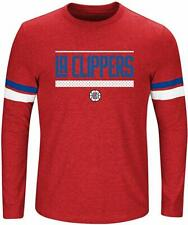 NBA Los Angeles Clippers Long Sleeve Screen Print Tee Red Heather/Royal 5X New