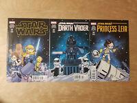 Star Wars Skottie Young Connecting Variant Set Darth Vader Princess Leia Marvel