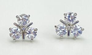 9k White Gold Zircon Gemstone Earrings, Gems Tv, With Cert
