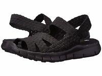 Women's Shoes Bernie Mev. Cindy Casual Woven Slingback Sandals Black *New*