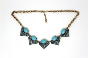 Turquoise Heavy Stone Statement Necklace