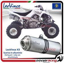 Leovince X3 ATV/Quad terminale scarico Yamaha YFM 700 R RAPTOR 2006>2012