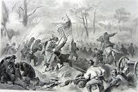 Civil War BATTLE OF FORT DONELSON Ulysses Grant ~ Old 1881 Art Print Engraving