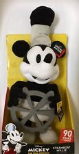 NIB Disney Mickey Mouse 90th Special Edition Steamboat Willie Plush toy