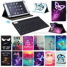 "7"" Inch Tablet PC Wireless Keyboard + PU Leather Folding Flip Stand Case Cover"