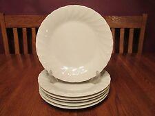 Six Beautiful Sheffield Bone White Porcelain China Dinner Plates (Japan)