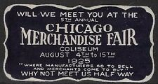 Usa Cinderella stamp: 1925 Chicago Merchandise Fair Die Cut Label - dw141
