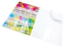 20/fogli di carta fotografica lucida 135/g carta adesiva A3/a getto d inchiostro adesivo appiccicoso UK