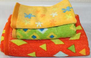 Tamarkate Origami Jungle 3 Piece Towel Set Bath,Hand & Fingertip Towel