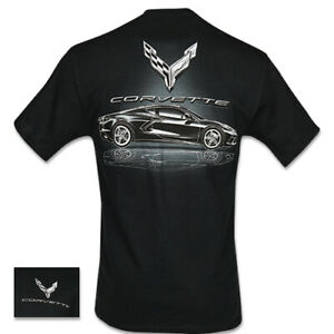 C8 Corvette Metallic Tonal T-Shirt Black