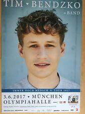 TIM BENDZKO  2017  MÜNCHEN  ++ orig.Concert Poster -- Konzert Plakat  A1 NEU