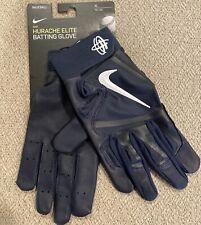Nike Huarache Elite Batting Gloves Baseball Navy Blue Mens XL PGB643-439