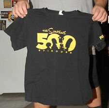 THE SIMPSONS 500TH EPISODE PROMO T SHIRT VERY RARE HOMER BART MEDIUM