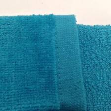12 NEW TURQUOISE TERRY VELOUR FINGERTIP GOLF HAND TOWELS 11X18 HEMMED SOFT