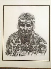 "John Bruce ""Native American Woman"" Original lmtd. ed. signed lithograph 160/200"