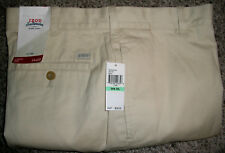IZOD Saltwater Relaxed Classics Flat Front Stone Beige Khaki Pants NWT 34x29 $58