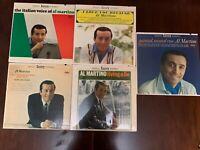 5 Al Martino Jazz Pop Vocal 33RPM Vinyl LP Records Lot Bundle All VG++ Capitol