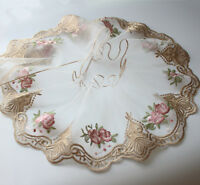 """7.87""""*2Yds  Gold Embroidered Tulle Lace Trim for Garment Decoration"""