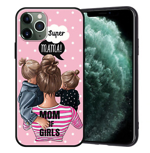 XIX Mom Love Baby Soft Black Silicone Phone Cases