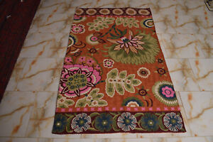 141 - Old Kashmiri Hand Stitch Wool Chain - 171 x 99 cm