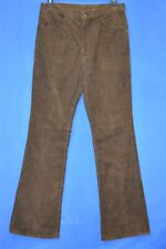 vintage 80s LEVIS BROWN CORDUROY WHITE TAB JEANS MEN'S PANTS BOOT CUT 34 X 36