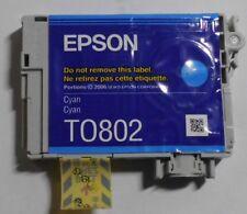 Epson T0802 Tinte cyan für Stylus Photo R265 R285 R360 RX560 RX685  PX700W