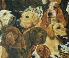 Hunting Dog Heads BTY Robert May VIP Cranston Lab Cocker Spaniel Irish Setter