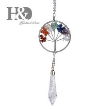 Rainbow Suncatcher Hanging Crystal Tree of Life Drop Pendant Window Home Decor