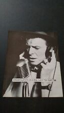 David Bowie A Real Classy Ten Years. '93 Rare Original Print Promo Poster Ad