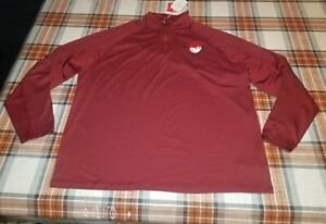 Puma X Malbon Golf 1/4 Zip Pop Over Shirt Pomegranate Mens Sz XXL