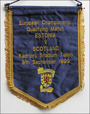 Football Match Pennant Scotland v Estonia 1999 UEFA EURO 2000