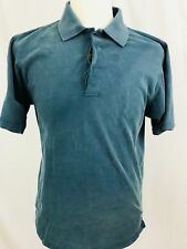 The Territory Ahead Polo Shirt Mens Small Short Sleeve Blue Solid Outdoors (L