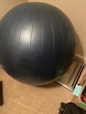 Large 75cm Inflatable Exercise Workout Ball, Blue